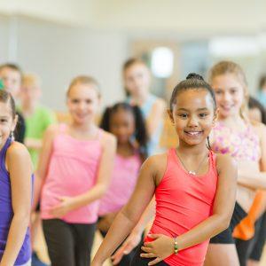 Kids dance fitness class.
